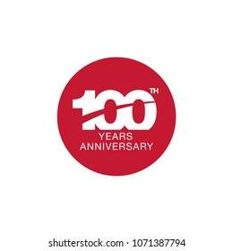 100th anniversary emblem. One hundred years anniversary celebration symbol