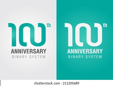 100th anniversary with an infinity symbol. Creative design. Business success.