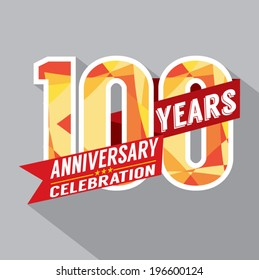 100th Years Anniversary Celebration Design