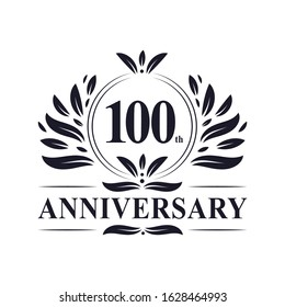 100th years Anniversary logo, luxurious 100th Anniversary design celebration.