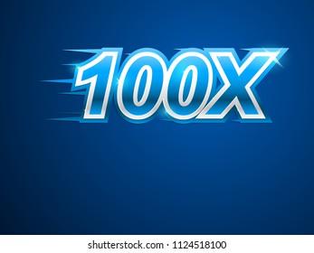 100x blue logo