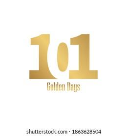 101 lettertype vector logo design, 101 golden days