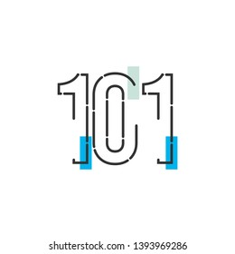 101 Year Anniversary Celebration Vector Template Design Illustration