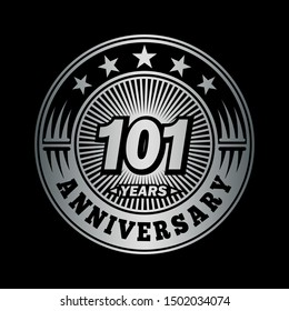 101 years anniversary. Anniversary logo design. Vector and illustration.