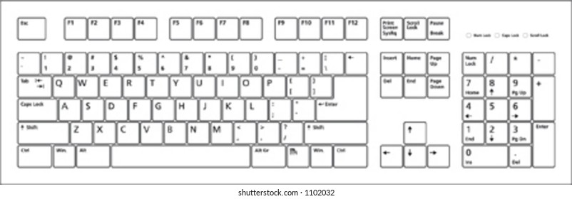 image relating to Printable Keyboard known as Keyboard Design Visuals, Inventory Pics Vectors Shutterstock