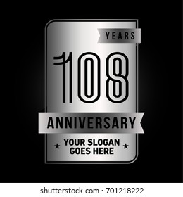 108 years anniversary design template. Vector and illustration.