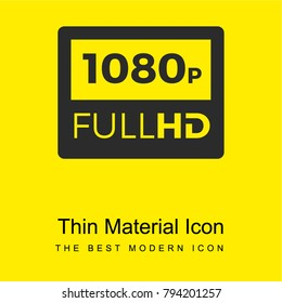 1080p Full HD bright yellow material minimal icon or logo design