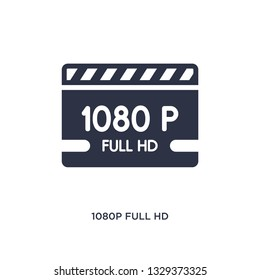 1080p full hd icon. Simple element illustration from cinema concept. 1080p full hd editable symbol design on white background. Can be use for web and mobile.