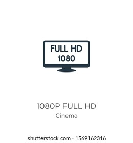 1080p full hd icon vector. Trendy flat 1080p full hd icon from cinema collection isolated on white background. Vector illustration can be used for web and mobile graphic design, logo, eps10