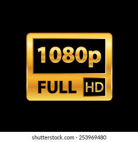 1080p Full HD sign