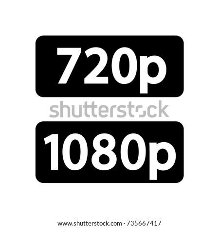08e93d40df7a8 1080 P Full HD Sign 720 P HD Vector de stock (libre de regalías ...