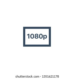 1080p HD resolution icon for web and mobile