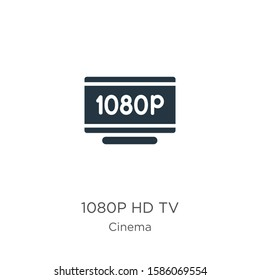 1080p hd tv icon vector. Trendy flat 1080p hd tv icon from cinema collection isolated on white background. Vector illustration can be used for web and mobile graphic design, logo, eps10