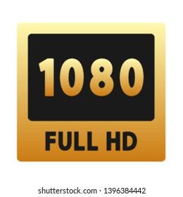 1080p icon. Graphic template. Vector illustration