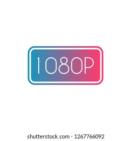 1080p resoluition Design icon. vector illustration
