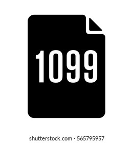 1099 IRS tax form document flat vector icon for finance apps and websites
