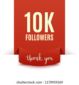 10k followers, social media banner, congratulation, celebration, vector illustration