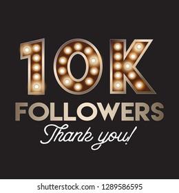 10K followers social media post template