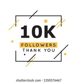 10k followers thank you design template