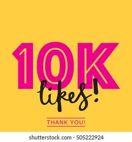 10K likes online social media thank you banner