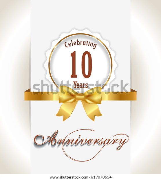 10th Anniversary Background 10 Years Celebration Stock Vector