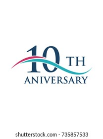 10th anniversary, logo, icon, vector