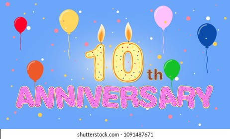 10th anniversary in party template.