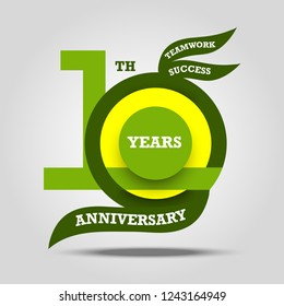 10th anniversary sign and logo celebration