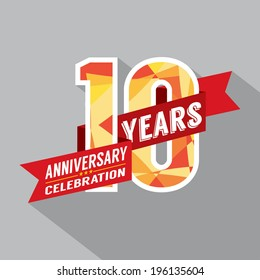 10th Years Anniversary Celebration Design