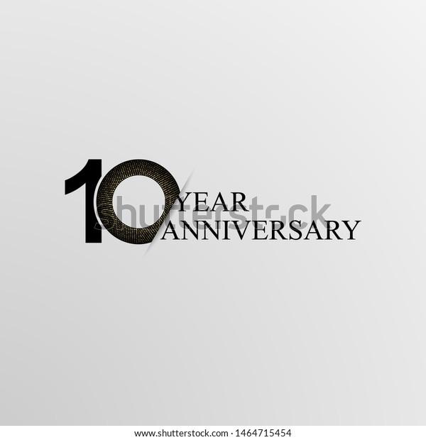 10th Years Anniversary Modern Logo Icon Stock Vector