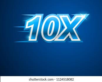 10x blue logo