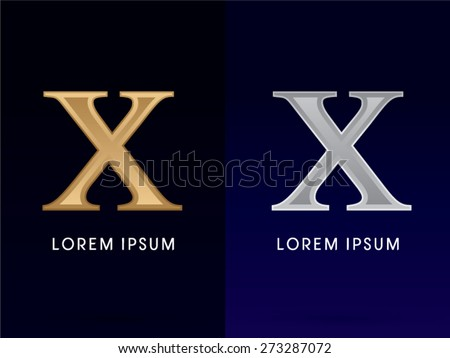 10 X Luxury Gold Silver Roman Numerals Stock Vector Royalty Free