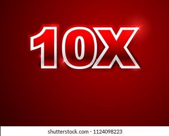 10x red logo