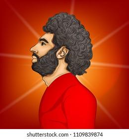11 June 2018,Egypt , Mohamed Salah Illustration