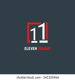 11 Number logo design vector element