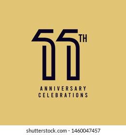11 Th Anniversary Celebration Vector Template Design Illustration