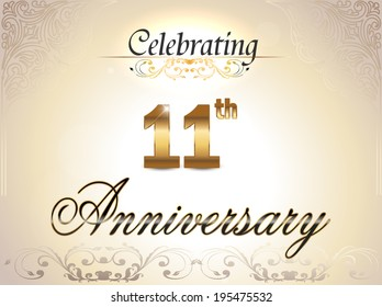11th anniversary images stock photos vectors shutterstock