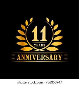 11 years anniversary logo template.