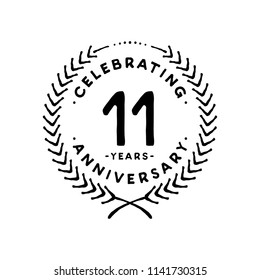 11 years design template. 11th vector and illustration.