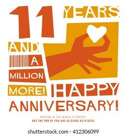 11 Years Happy Anniversary (Vector Illustration Concept Design)