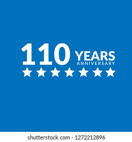 110 years anniversary celebration simple logo