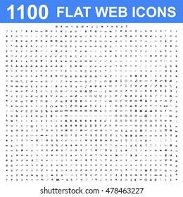 1100 Icon set. Vector concept illustration for design.