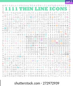 1111 thin line icons exclusive XXL icons set. Universal interface, navigation, people, family, baby, medicine and healthcare, holidays, Christmas, Valentines Day and many other miscellaneous icons