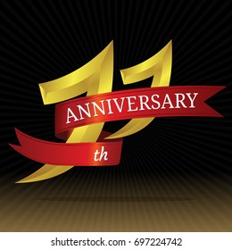 11th anniversary vector symbol.