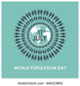 11th July world population day background