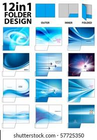 12 in 1 Folder Design Templates