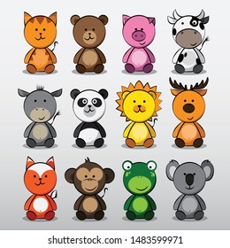 12 Cute Baby Animals  Collection for Kids
