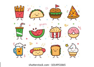 12 Cute and Sweet Vector Characters   well layered, simple to edit, CMYK, editable thickness, 100% vector  great for many purposes: Mascots, Emoji, Illustrations, Logos, Stickers, T-Shirt, vector  ele