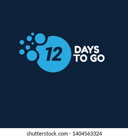 12 day to go. Vector stock illustration