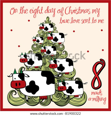the 12 days of christmas eight day eight maids a milking - 12 Days Of Christmas Decorations